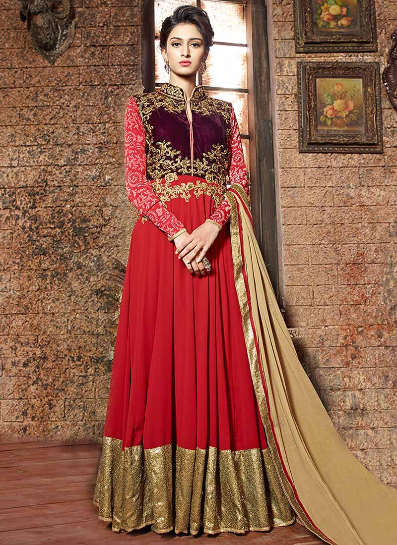 Latest Fashion Maxi Dresses And Anarkali Frocks 2017