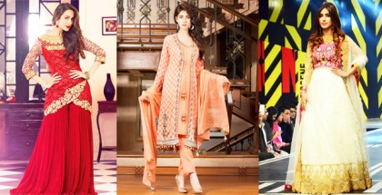 Latest Pakistani Party Dresses and Frock Designs