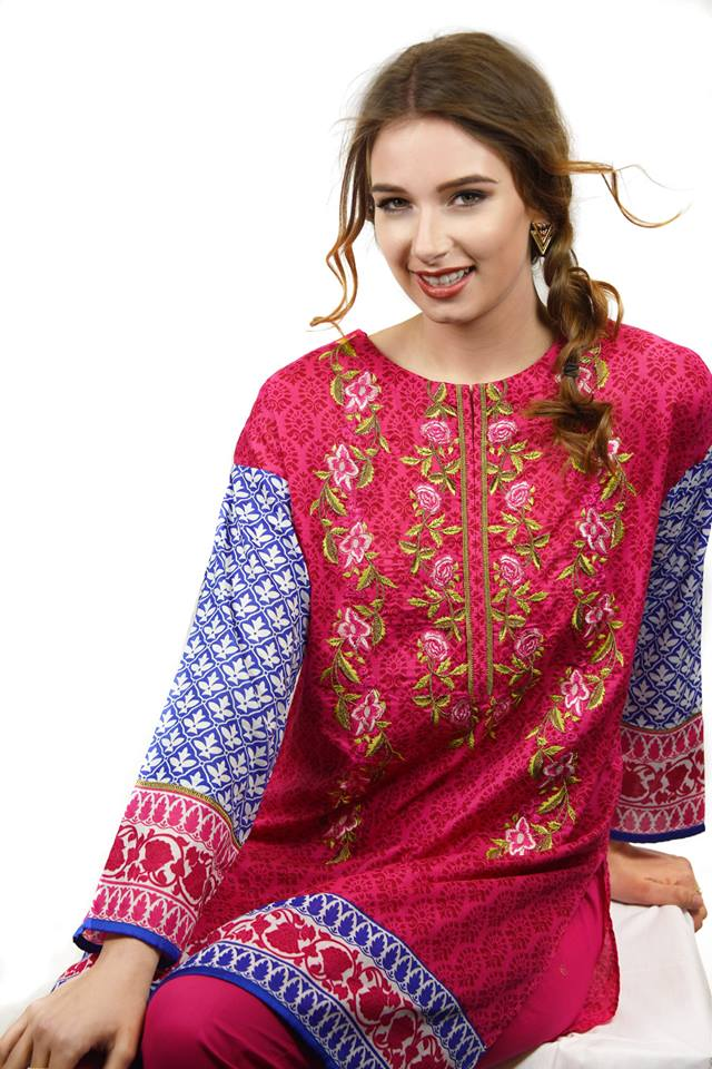 Embroidered Shirt by Nimsay Eid Collection