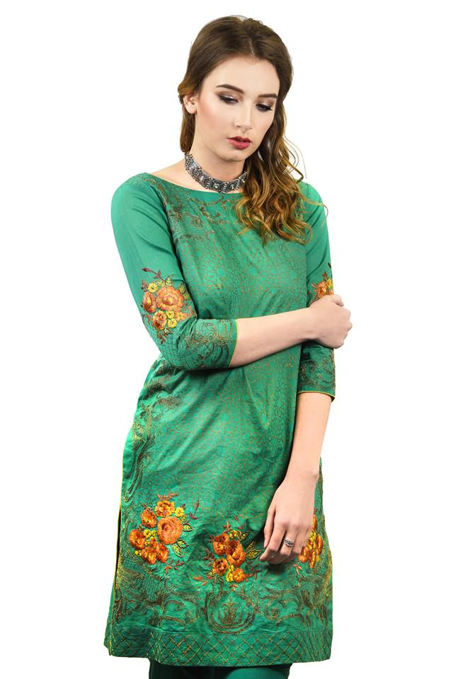 Nimsay Floral Embroidered Shirt for Eid