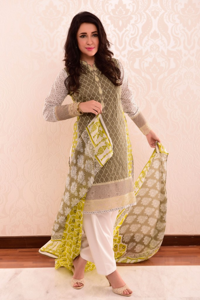 Satrangi Bonanza 2 Piece Lawn Dress for Eid