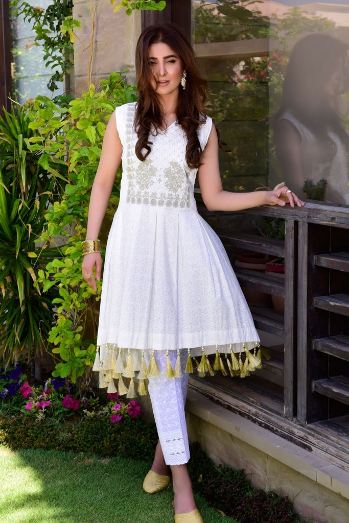 Satrangi Frock Style Eid Dress for Girls