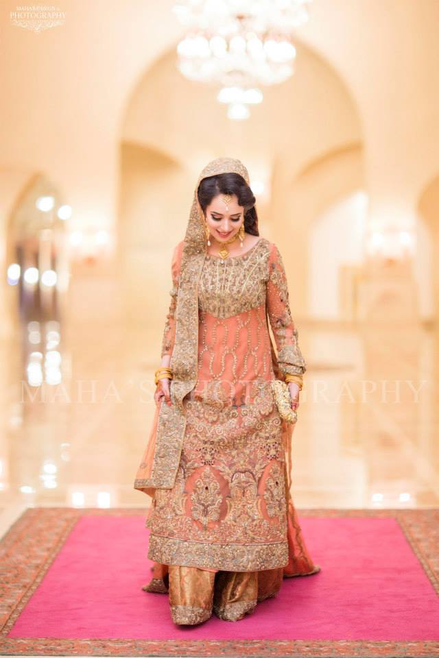 Peach Maxi for Pakistani Brides
