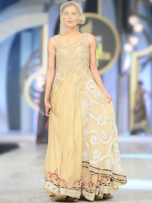 HSY Creamy Wedding Long maxi dress 2016