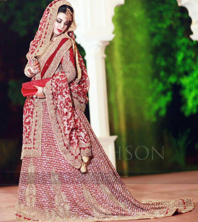 HSY Longtail Traditional Lehenga for Bridals