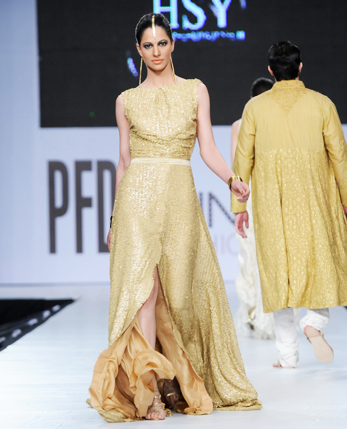 HSY New Style Golden Maxi for Western Brides