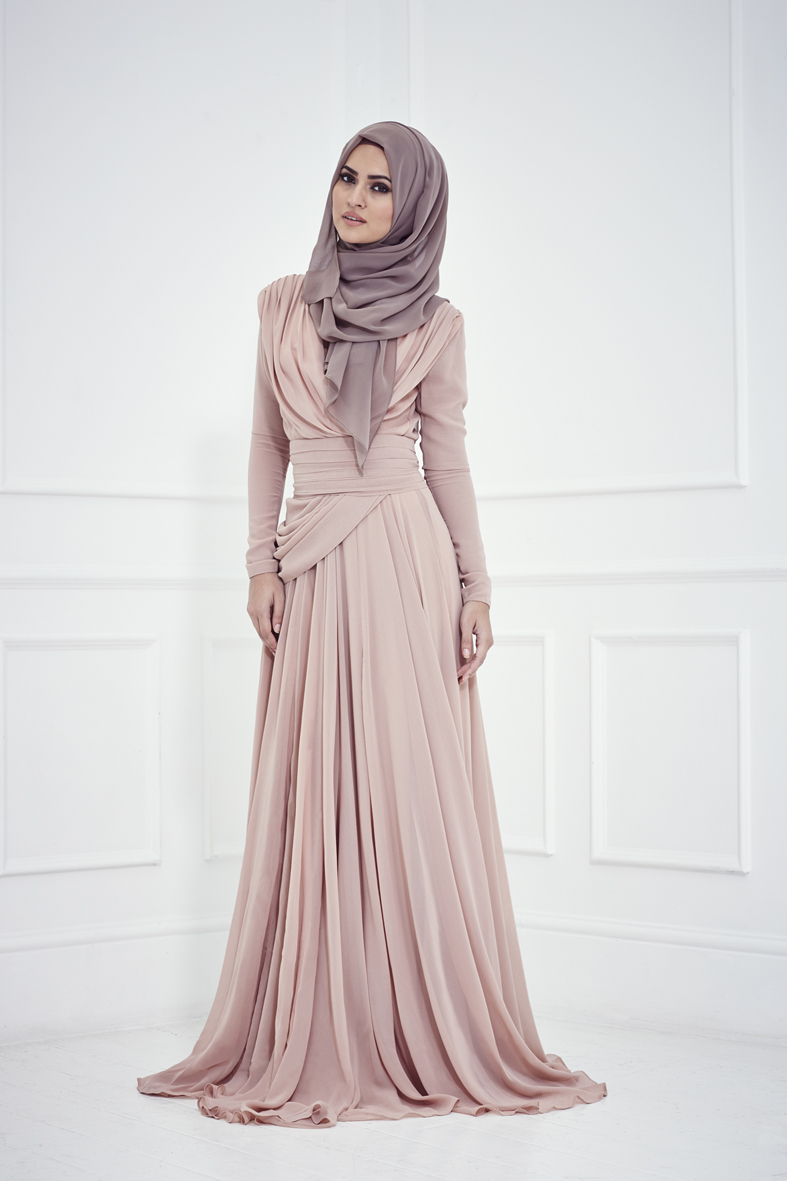 long maxi with hijab style for parties