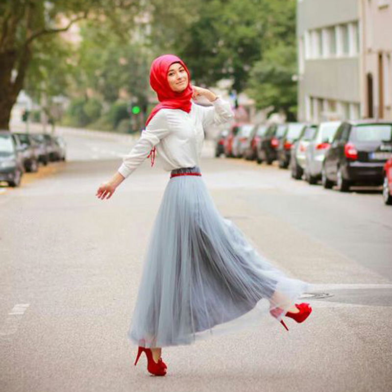 casual party wear hijab style with skirt