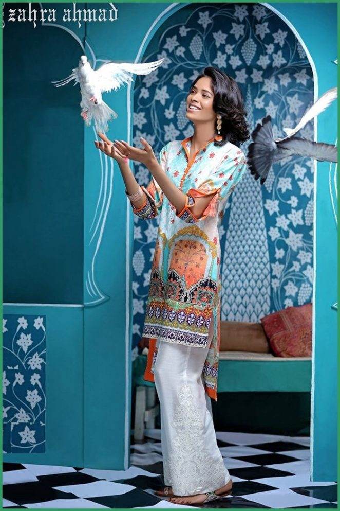 zahra ahmad tunic shirt with bell bottom trouser