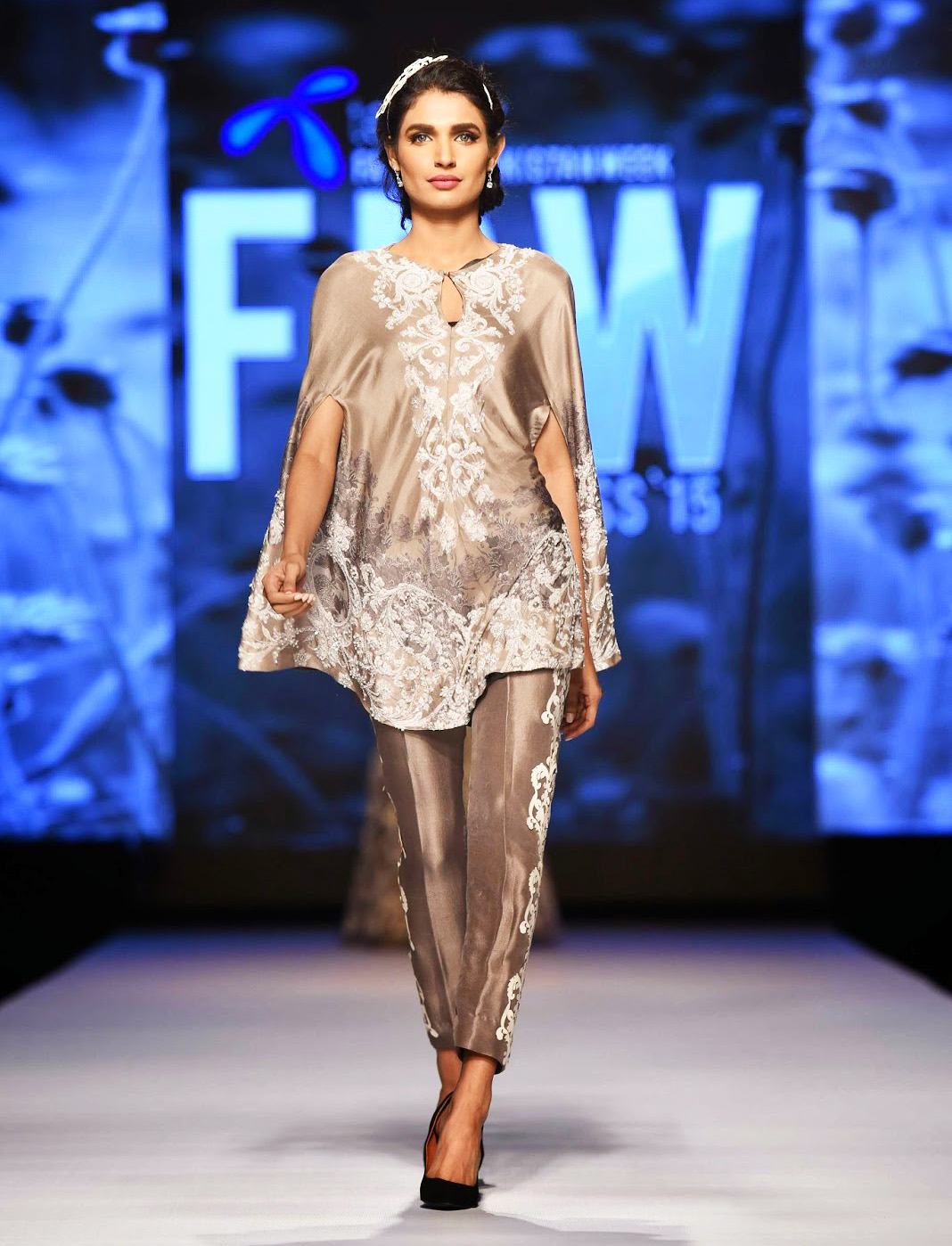 short cape style fancy shirt with trouser