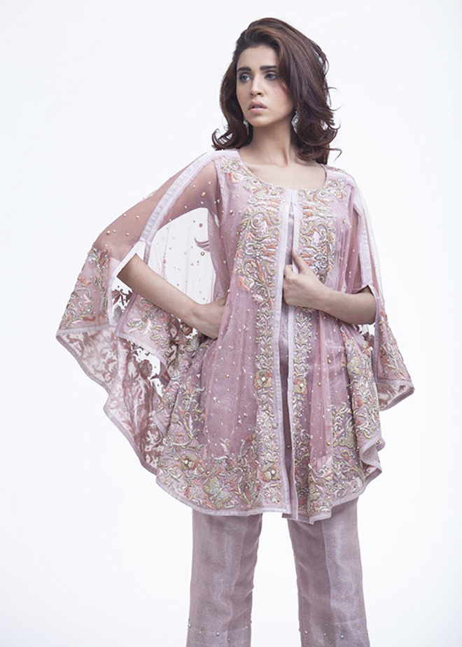 wedding and party wear front open cape