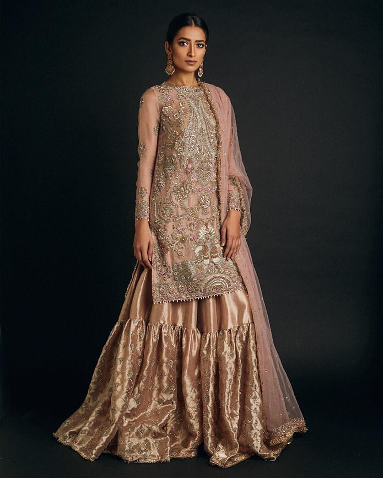 Teapink Embroidered Zara Shahjahan Collection 2017