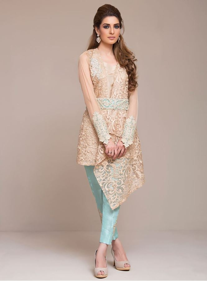 Rust Formal Ready to wear by zainab chottani