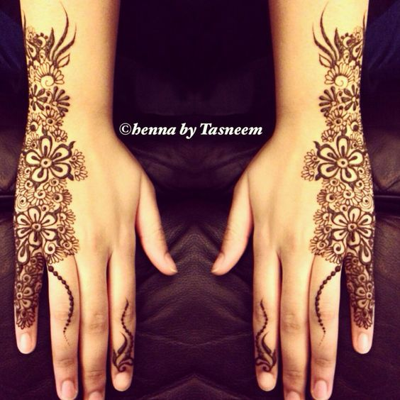 Back Side Flower Mehndi Design : Latest turkish mehndi designs for hands and feet