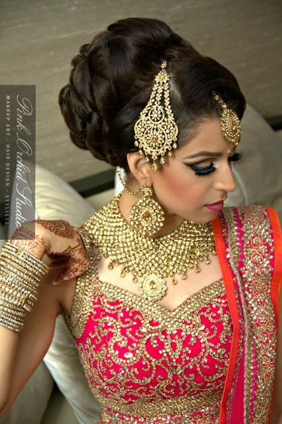 Indian Reception Bridal Hair Style