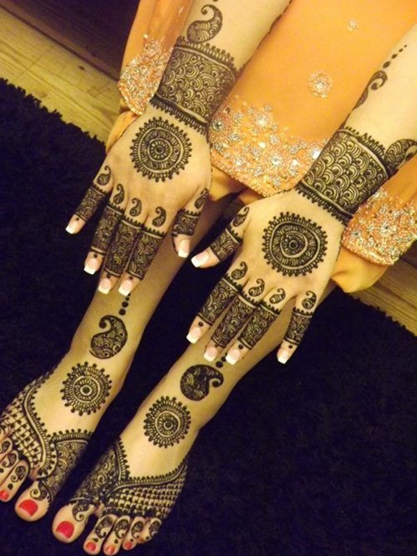 Pakistani mehndi design for hands and feet