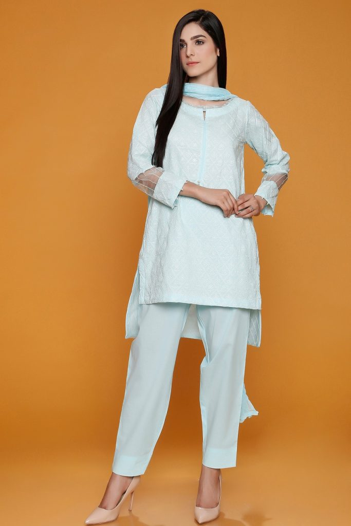 EMBROIDERED SHIRT WITH CHIFFON DUPATTA