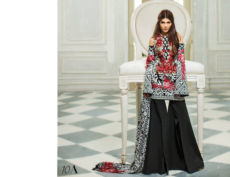 Monochrome Black Sana Safinaz Latest Collection 2017