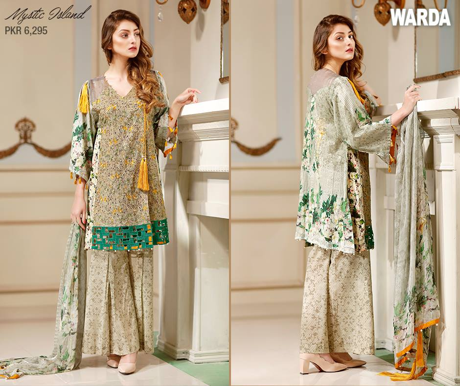 Sea Green Touch Warda Latest Eid Collection 2017