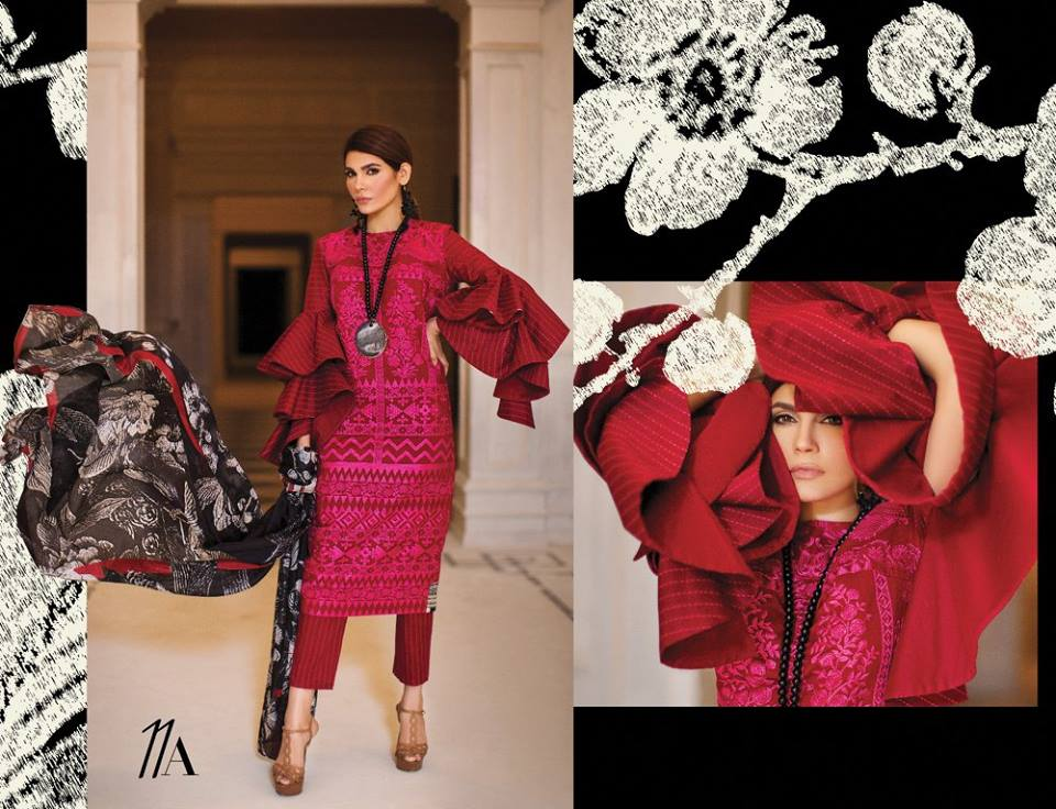 Ruby Red Sana Safinaz Latest Collection 2017