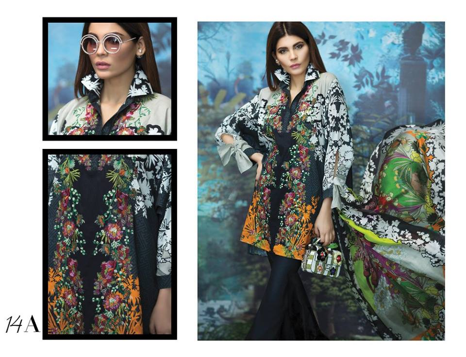 Embroidered Floral Sana Safinaz Latest Collection 2017