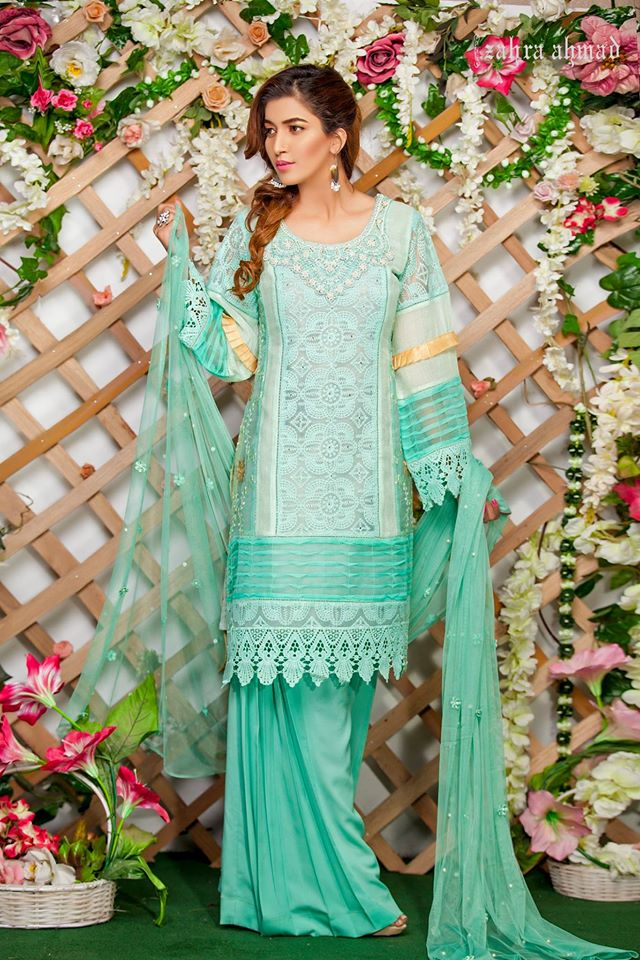 Turquoise Zahra ahmed Eid Collection 2017