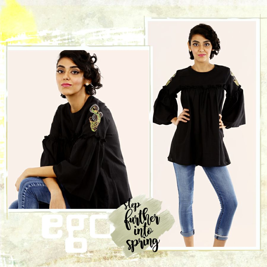 Spin Black Ego Ready to wear for Eid 2017