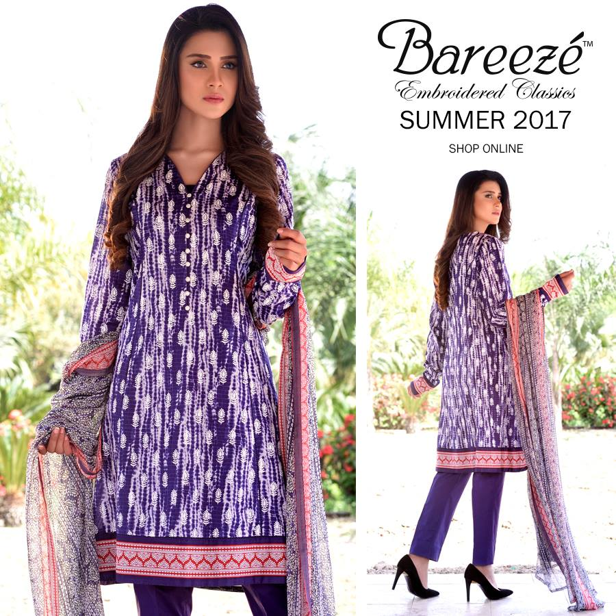 Purple Bareeze Embroiderd Collection 2017