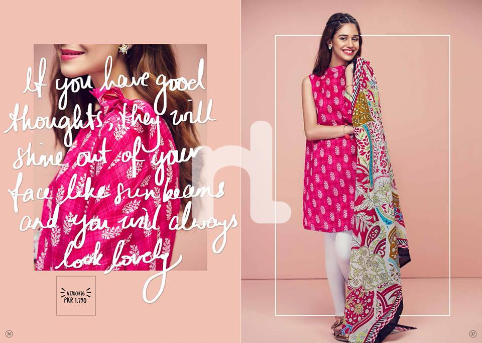Pink Nishat Linen Summer Collection 2017