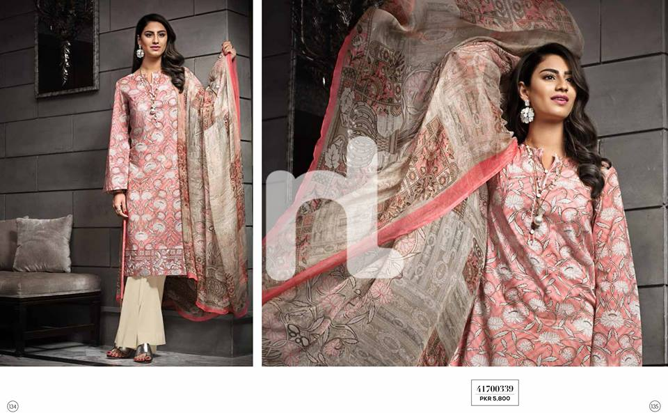 Candy Pink Nishat linen Summer Collection 2017
