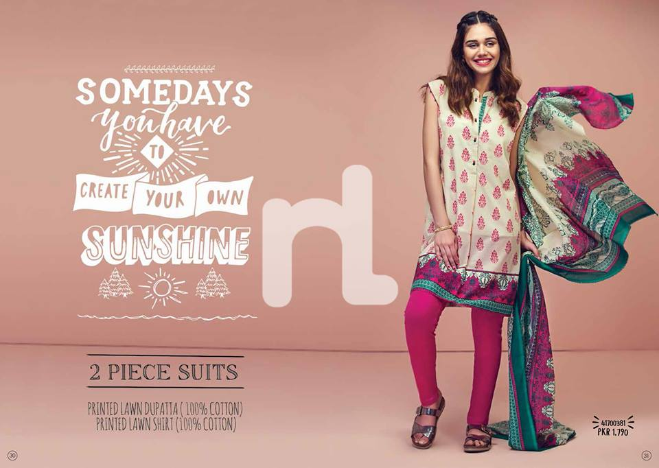 Purple Nishat linen Summer Collection 2017