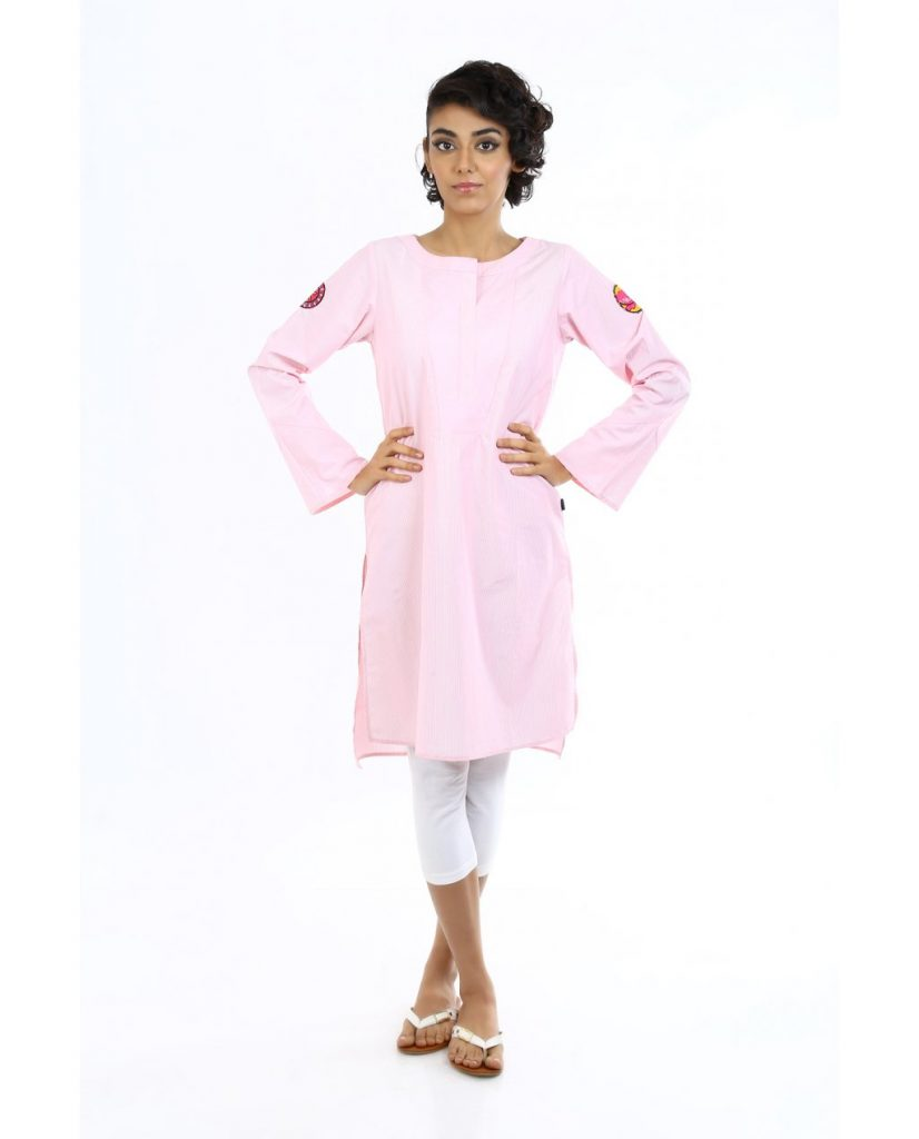 Plain pink Ego Ready to wear for Eid 2017