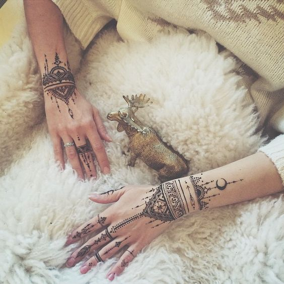 bracelet style easy mehndi design for eid