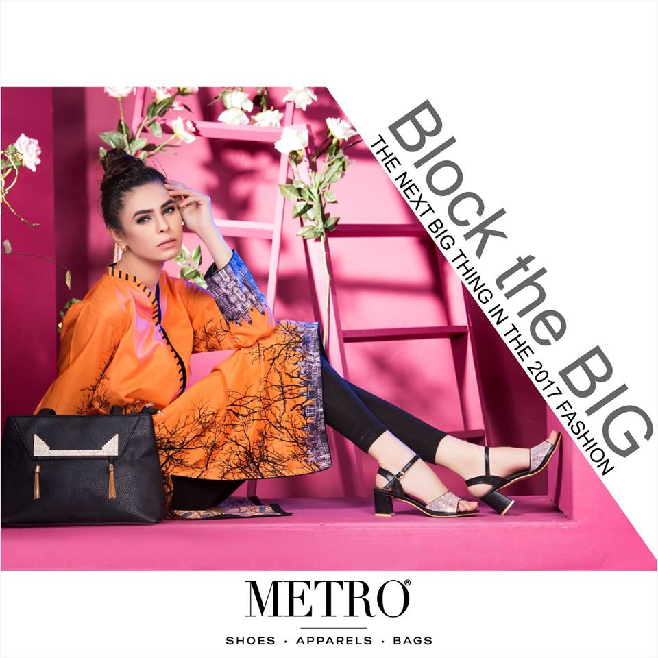 Casual Black heels Metro Collection 2017