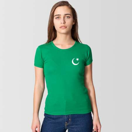 Green t-shirt for girls for 14 august