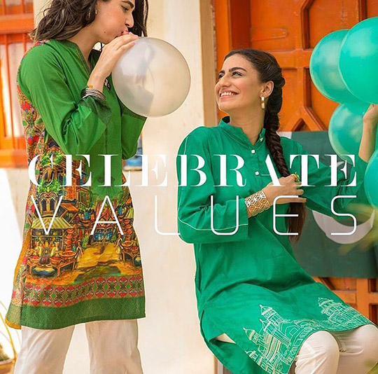 Pakistani 14 august dresses for girls