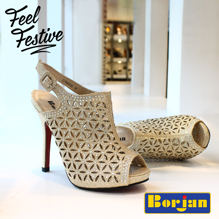 Borjan Formal Glittery Heels For Eid