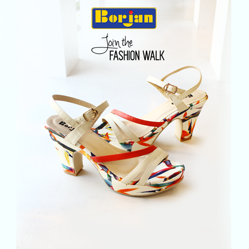 Borjan red and beige block heels For Eid