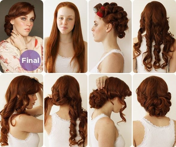 1930s Curly Bun Hairstyle Tutorial For Eid 2017