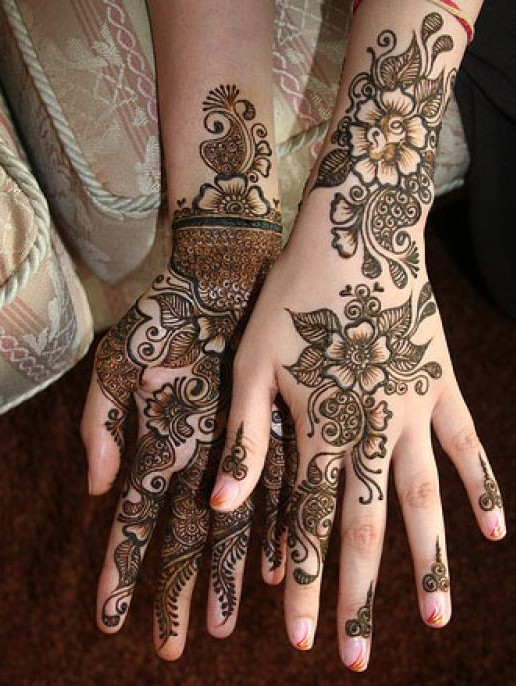 beautiful eid mehndi design for hands