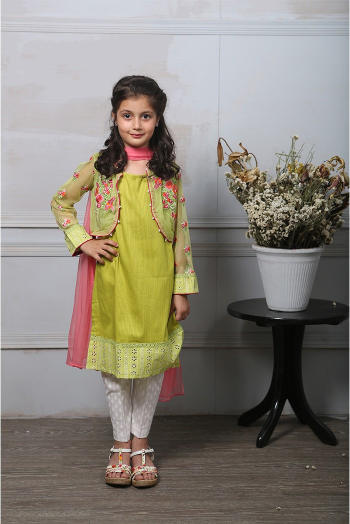 Maira.B Net Jacket Eid Dress For Kids