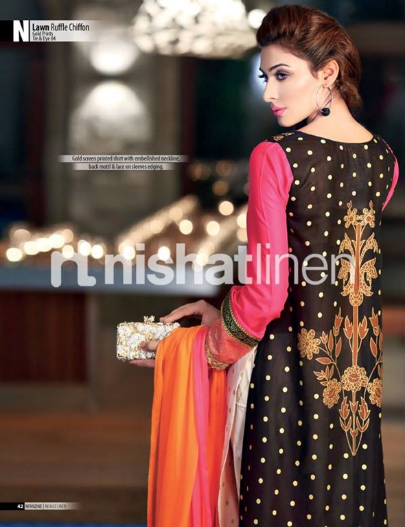 Nishat-Lawn-Ruffle-Chiffon-Eid-Collection-2013-14