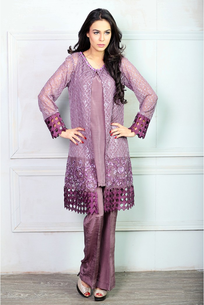 Maria B Royal Purple Dress For Eid