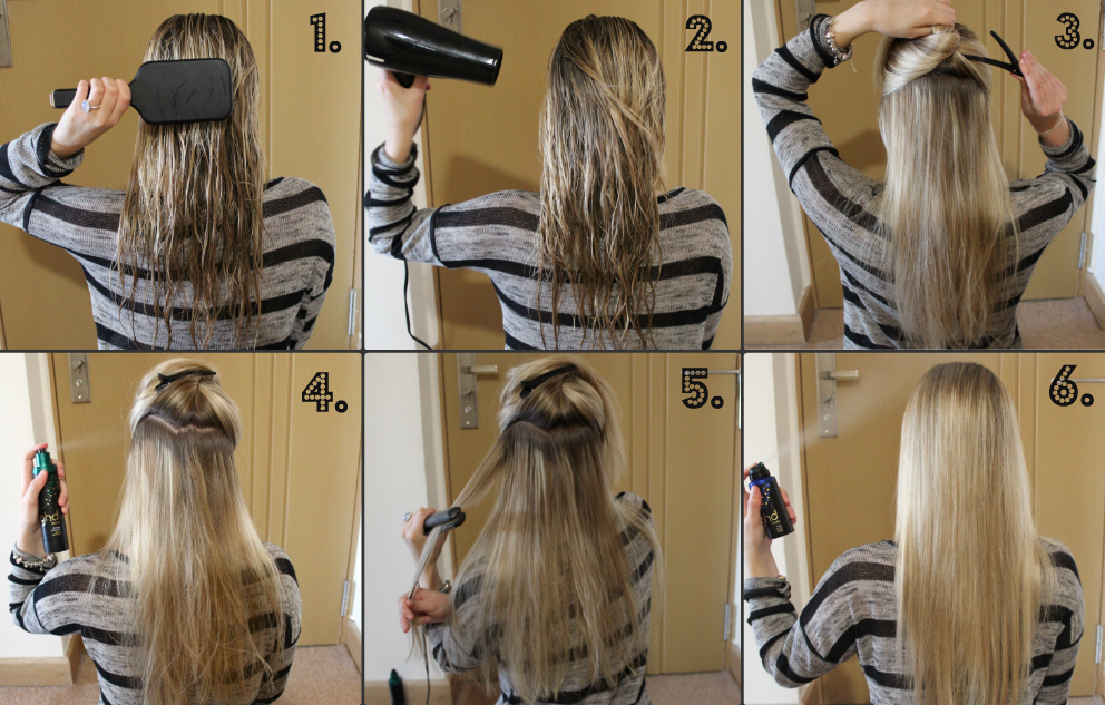 Straight Hair Tutorial Step By Step For Eid
