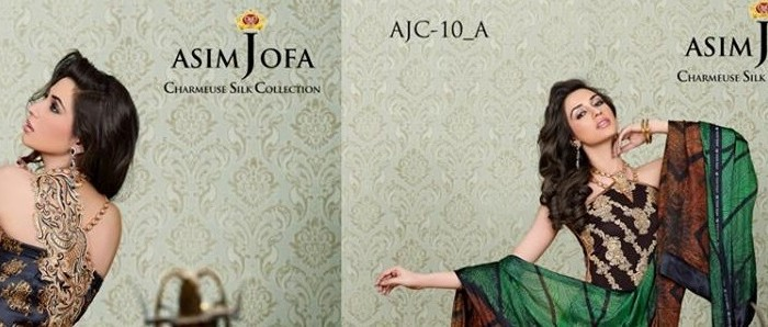 Asim Jofa Charmeuse Silk Latest Eid Collection For Women
