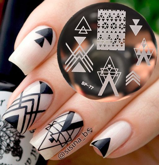 Criss Cross Nail Art Design