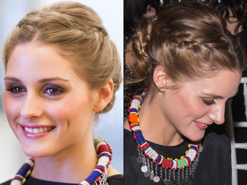 Olivia Palermo - Double Side Plait with Bun