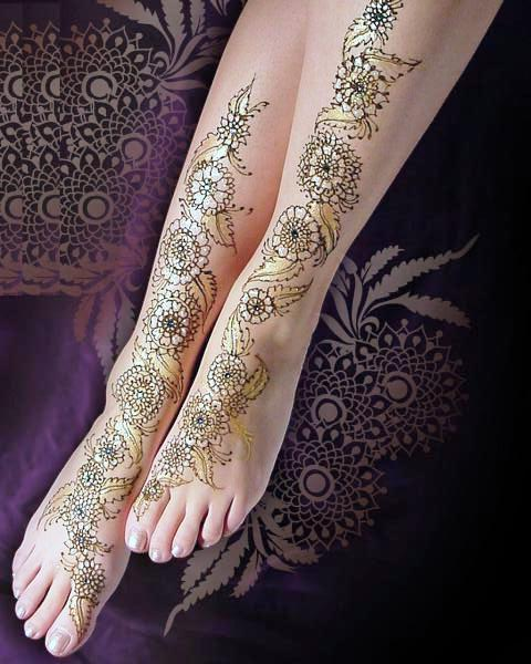 new arabic mehndi design for full feet