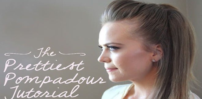 The Cutest & Easiest Pompadour Hairstyle Tutorial
