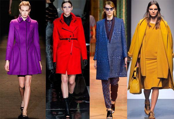 Winter Coats Color Trends 2013-14
